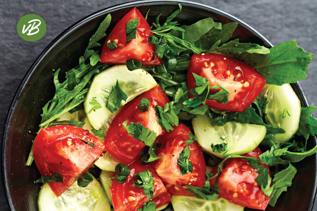 Salade-Tomaat-Komkommer